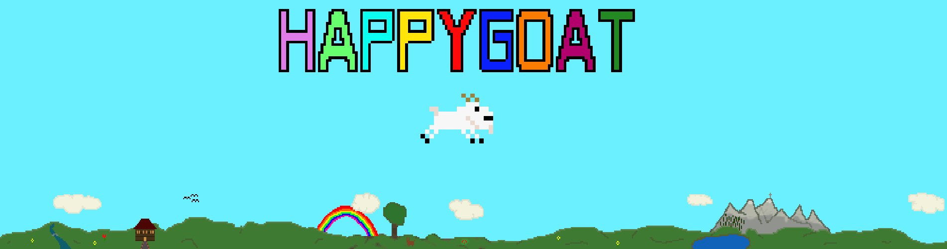 happy goat banner